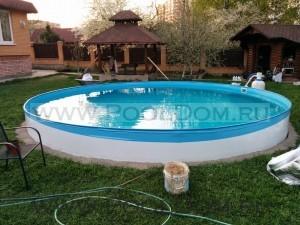 Замена на чашковый пакет PoolDom на кгруглом бассейне 5 м