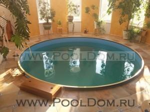 Установка чашкового пакета PoolDom на бассейн Baden