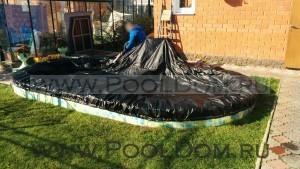 Законсервированный овальный бассейн Лорана