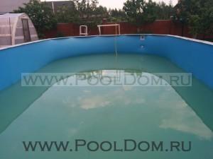 Установка чашкового пакета PoolDom на бассейне 9 на 4.5