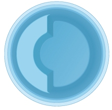 Композитная круглая купель для бани и сауны