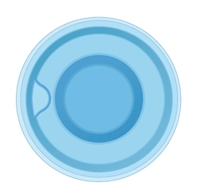 Композитная круглая купель SPA Light