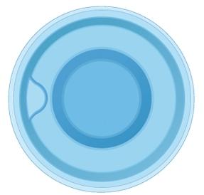 Композитная круглая купель SPA